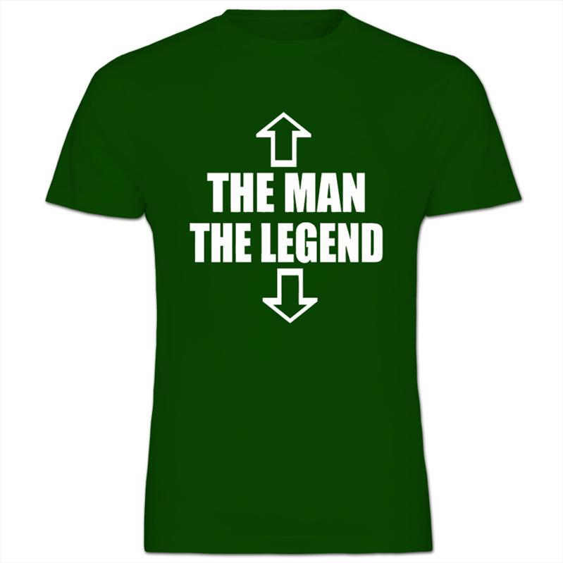 The-Man-The-Legend-Funny-Comedy-Gift-Mens-Cotton-Short-Sleeve-T-Shirt